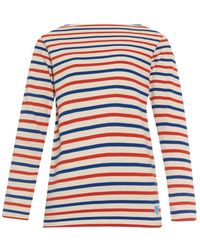 Orcival - Breton-Striped Cotton Sweater - Lyst