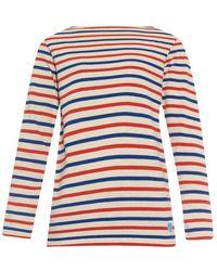 Orcival - Breton-Striped Cotton Sweater - Lyst