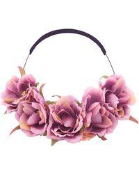 Bikini.com   Purple Floral Crown   Lyst
