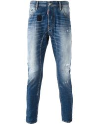 DSquared² Blue Skinny Jeans - Lyst