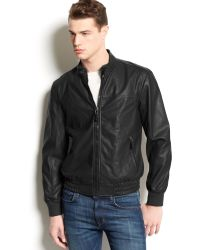 American Rag Fox Perforated Faux Leather Jacket - Lyst