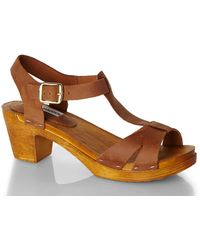Steve Madden Tan Glorious Suede Sandals - Lyst