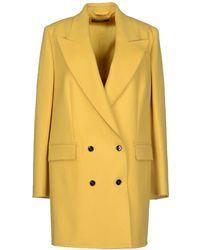 Dolce & Gabbana Yellow Coat - Lyst
