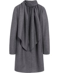 Mulberry Gray Scarf Coat - Lyst