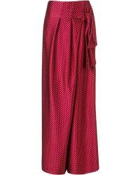 Thakoon Bordeaux Silk Wrap Sash Trousers - Lyst