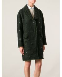 Moschino Cheap & Chic Embellished Coat - Lyst