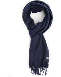 Lacoste Pack Navy Wool Cashmere Scarf - Lyst