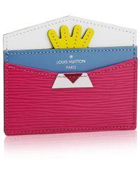 Louis Vuitton Tribal Mask Card Holder - Lyst