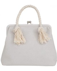 Clare V. Franc Perforated Bag - Lyst