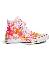 Rialto Jean Project | One Of A Kind Hand-painted Splash High Top Sneakers - Sz 37 | Lyst