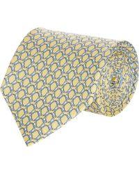 Ferragamo Yellow Bird-print Tie - Lyst