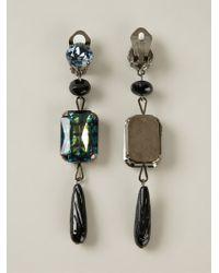 Giorgio Armani Bead Drop Clip-on Earrings - Lyst
