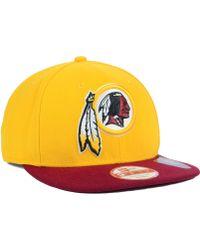 New Era Washington Redskins Basic 9Fifty Snapback Cap - Lyst