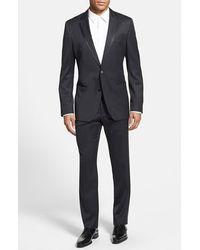 Hugo Boss 'Harold/Geno' Trim Fit Wool Blend Tuxedo gray - Lyst