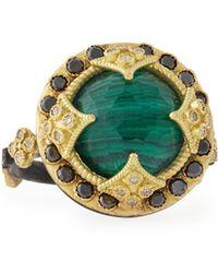 Armenta - Malachite Blue Topaz & Black Diamond Ring - Lyst
