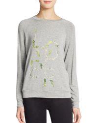 Haute Hippie Lover Floral-print Sweatshirt - Lyst