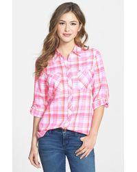 Foxcroft Madras Plaid Cotton Shirt - Lyst