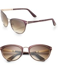 Tom Ford 56mm Cats-eye Sunglasses - Lyst