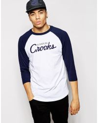 Crooks and Castles - Long Sleeve T-Shirt With Script Logo - Lyst