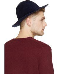 Burberry Prorsum Indigo Blue Rabbit Felt Round Hat - Lyst