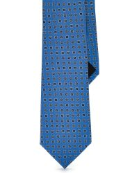 Ralph Lauren Black Label Geometric Silk Tie - Lyst