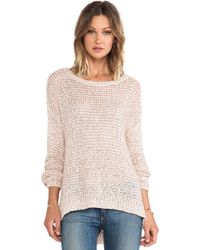 Elizabeth And James Lattice Boxy Pullover - Lyst