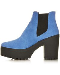 Topshop Allsorts Chelsea Boots - Lyst
