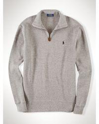 Polo Ralph Lauren French-Rib Half-Zip Pullover - Lyst