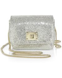 Jimmy Choo Ruby Glittered Leather Shoulder Bag - Lyst