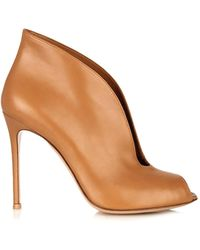 Gianvito Rossi Vamp Leather Ankle Boots - Lyst