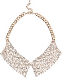 River Island Gold Tone Faux Pearl Collar Necklace - Lyst
