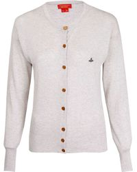 Vivienne Westwood Red Label - Grey Orb Cotton Cardigan - Lyst