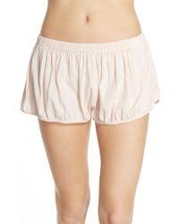 NYTT - 'lucy' Blouson Lounge Shorts - Lyst