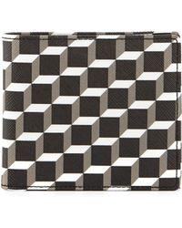 Pierre Hardy Blue Cube Print Wallet - Lyst