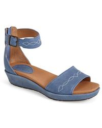 Ariat   'Lisa' Leather Ankle Strap Sandal   Lyst