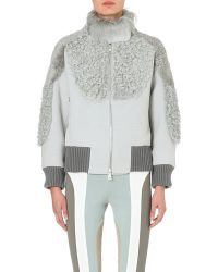 Marc Jacobs Shearling-panel Bomber Jacket - Lyst
