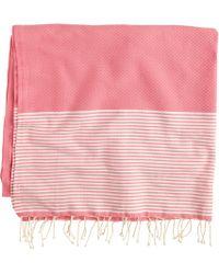 J.Crew Fouta Lifestyle® Ines Towel pink - Lyst