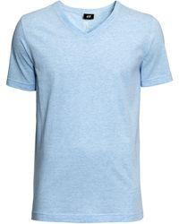 H&M V-neck T-shirt - Lyst