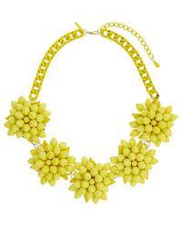 Topshop Yellow Flower Collar - Lyst