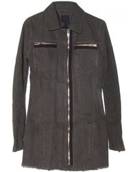RTA Denim Army Trench Coat - Lyst