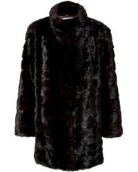 Yves Salomon Black Mink Coat - Lyst