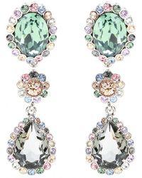 Miu Miu Clip-On Crystal Earrings - Lyst