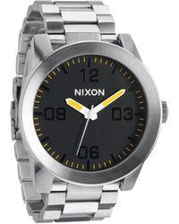 Nixon Ss Grand Prix Corporal Watch silver - Lyst