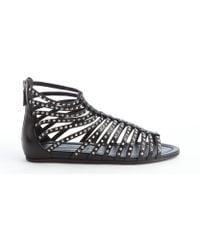prada black handbag - Prada Metallic-Leather Gladiator Sandals in Gold (PLATINO) | Lyst