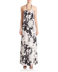 Trina Turk Floral Halter Maxi Dress - Lyst