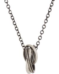 Werkstatt:münchen - Silver Ring Charms On Cable Chain - Lyst