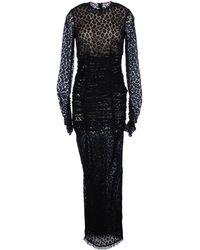 Alessandra Rich Long Dress black - Lyst