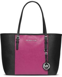 Michael Kors Jet Set Travel Colorblock Saffiano Small Tote - Lyst