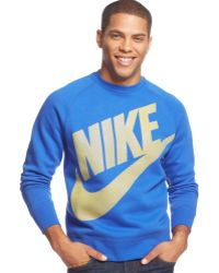 Nike Aw77 Logo Fleece Pullover - Lyst