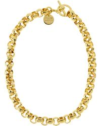 1AR By Unoaerre - Gold-Plated Textured Link Necklace - Lyst